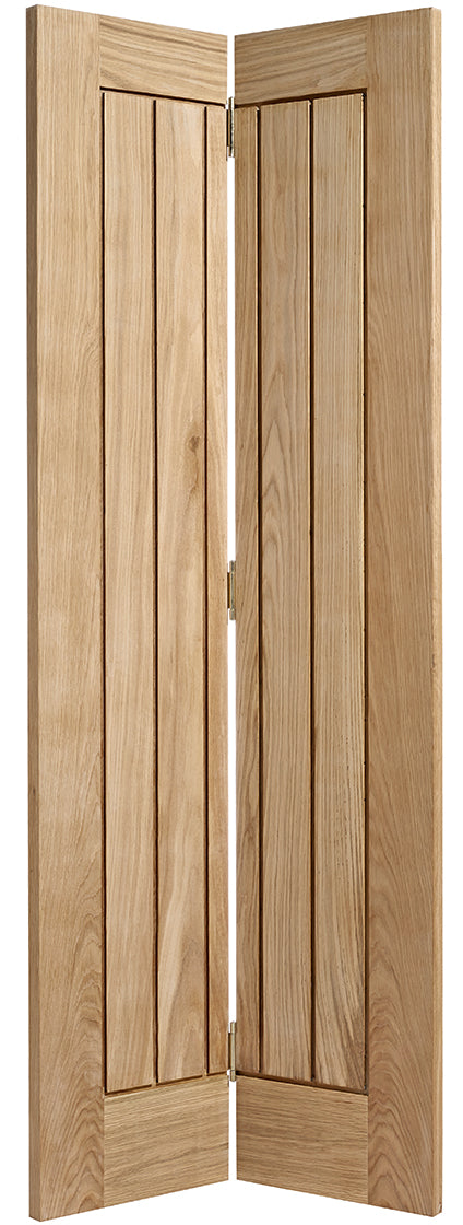 Contemporary Shaker 4 Panel Oak Unfinished Bifold