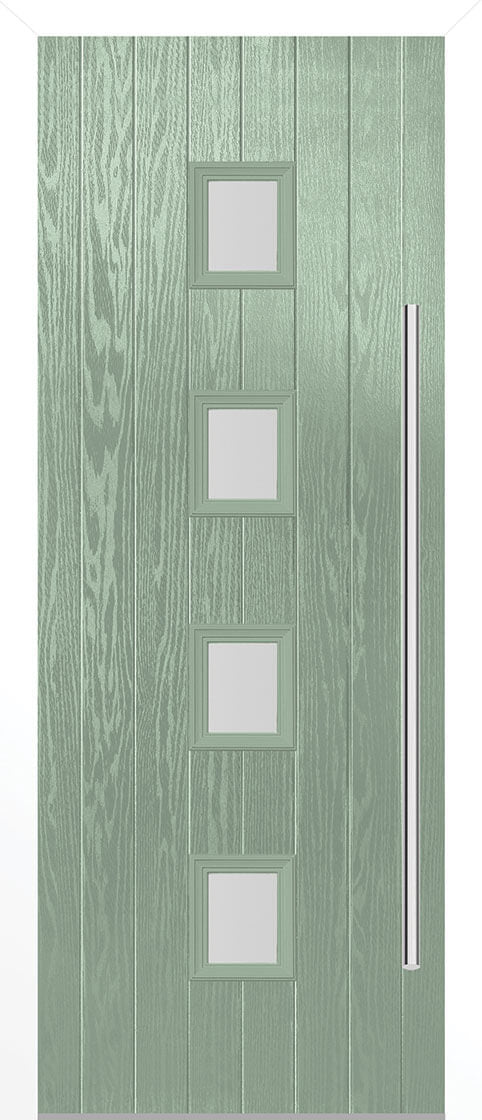 Milton Chartwell Green Composite Doorset With White Frame