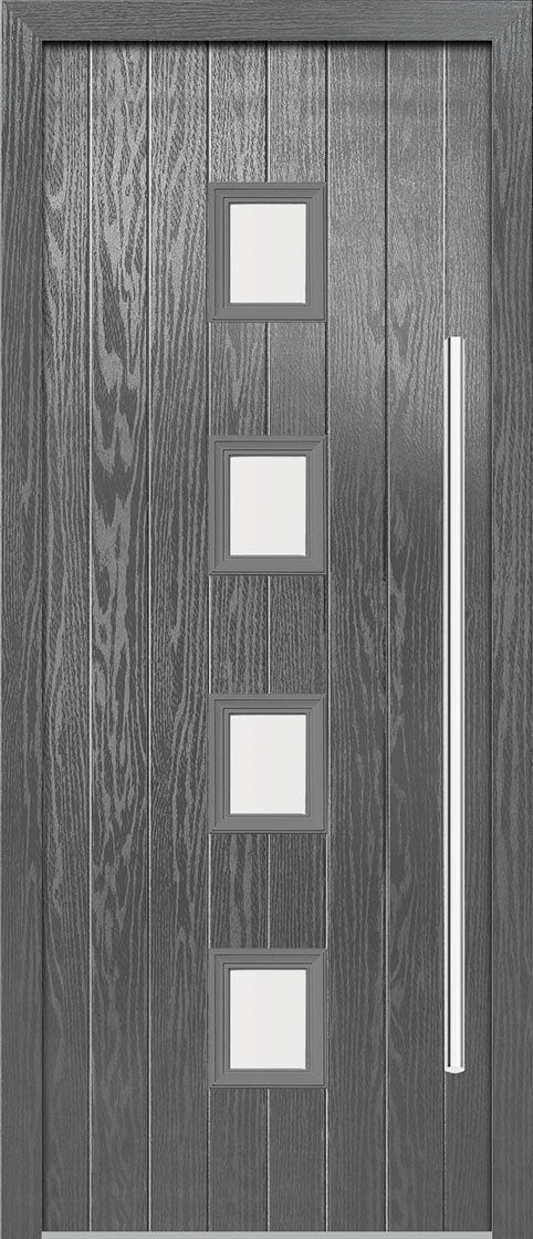 Milton Grey Composite Doorset With Grey Frame