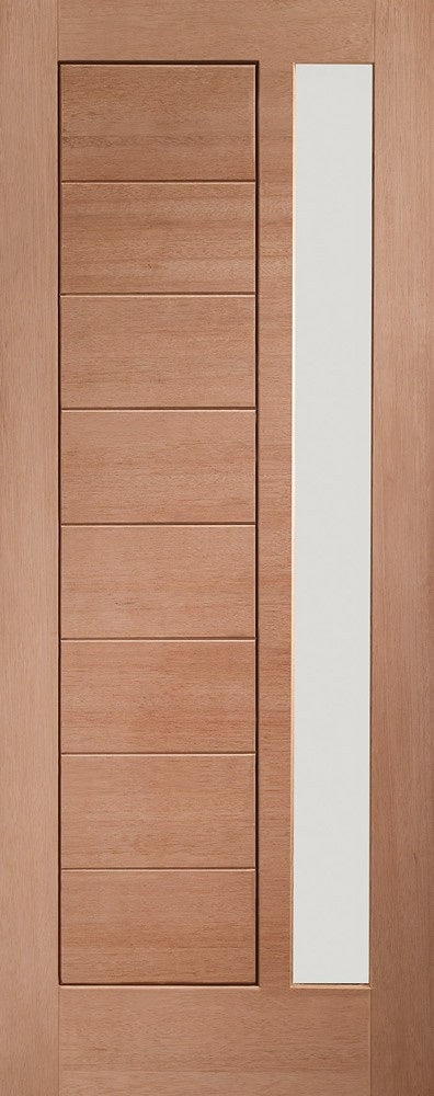 York External Hardwood Door Obscure Glass Single Glazed Dowelled