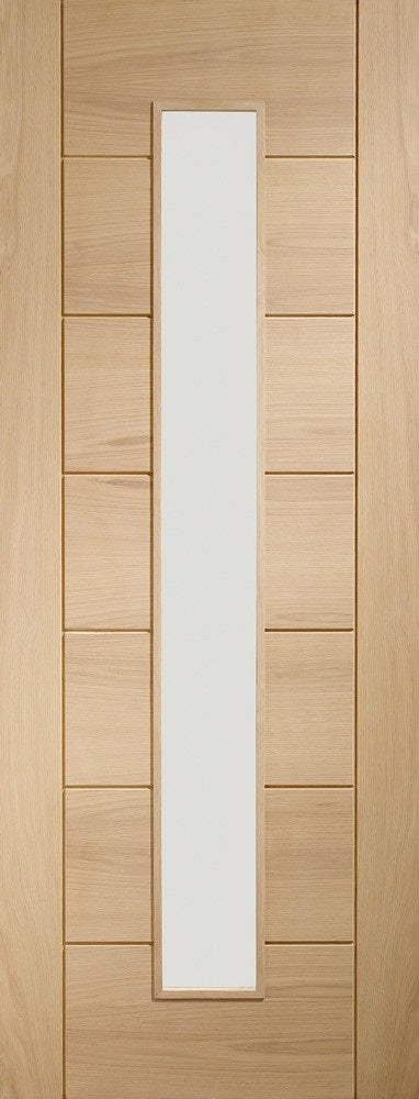 Worcester 3 Light Oak Fire Door With Clear Glass
