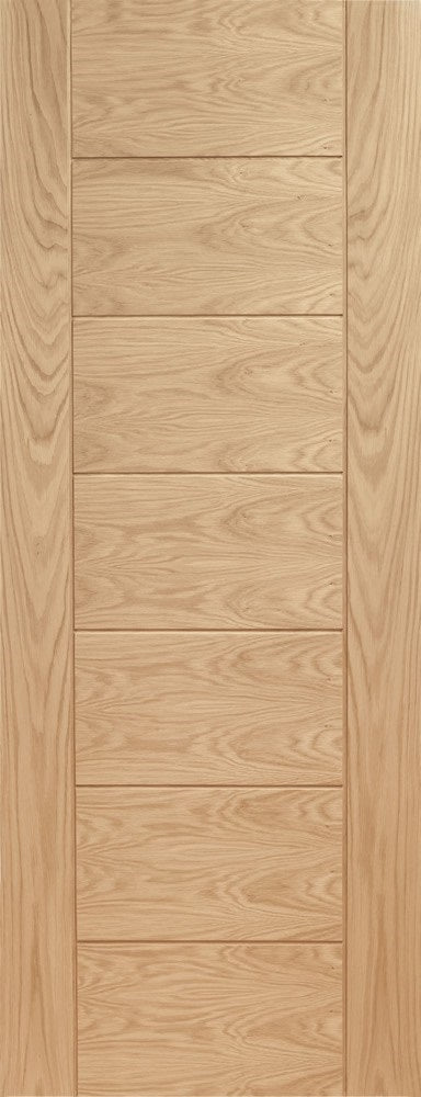 Suffolk 6 Light Oak Fire Door With Clear Glass