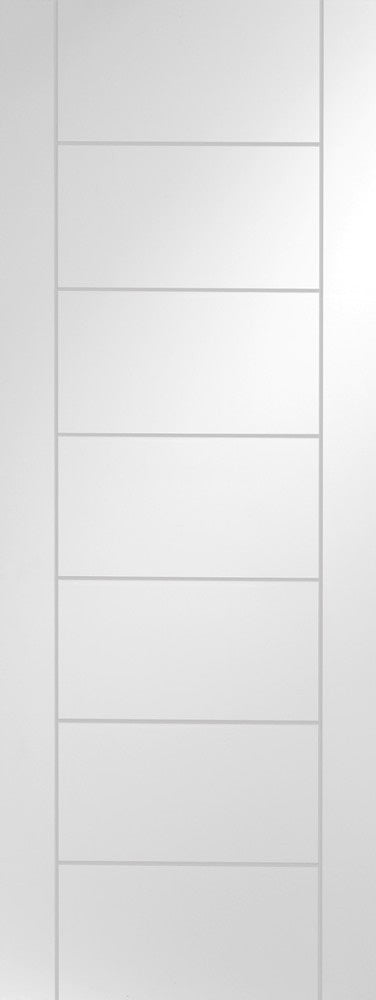 Vancouver White Primed 4 Light Clear Glass Fire Door