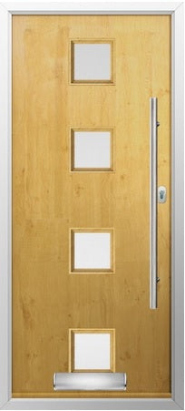 Palermo Irish Oak Exterrnal Composite Door and frame
