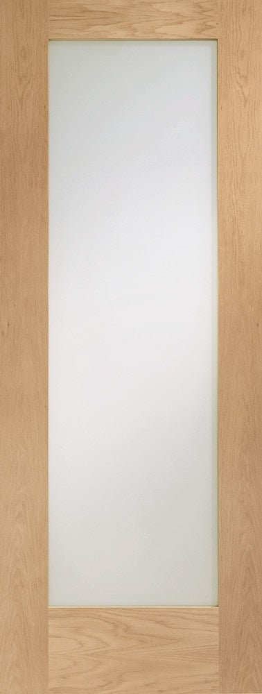Mexicano White Primed Internal Door Clear Glass