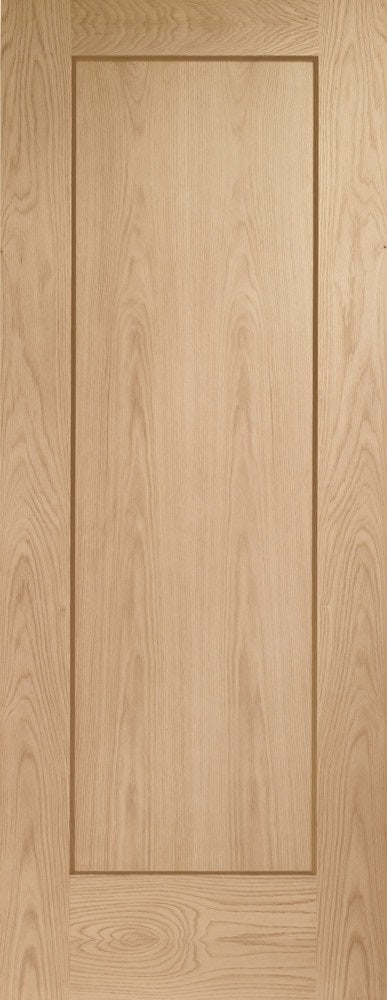 London 4 Flat Panel Oak Internal Door Unfinished