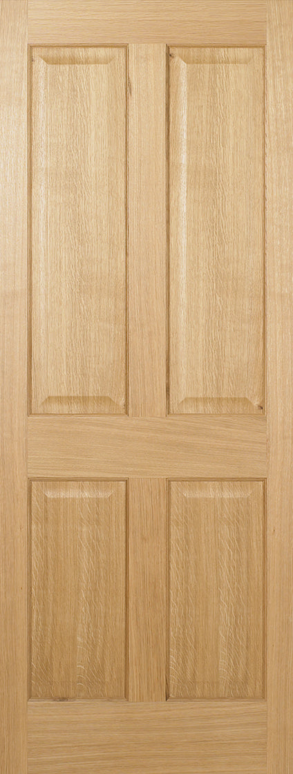 Eindhoven 1 Panel Oak Prefinished Fire Door