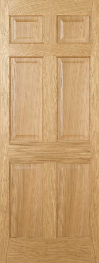 Regency 6 Panel Oak Prefinished