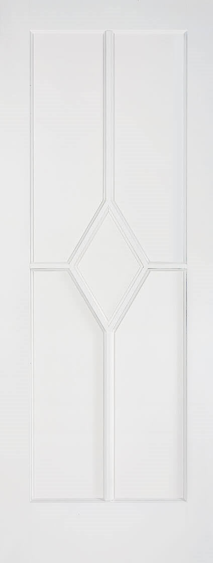 Reims primed white fire door