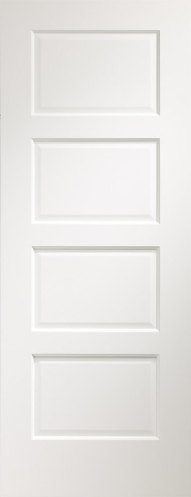 Severo 4 panel white prefinished Internal door.