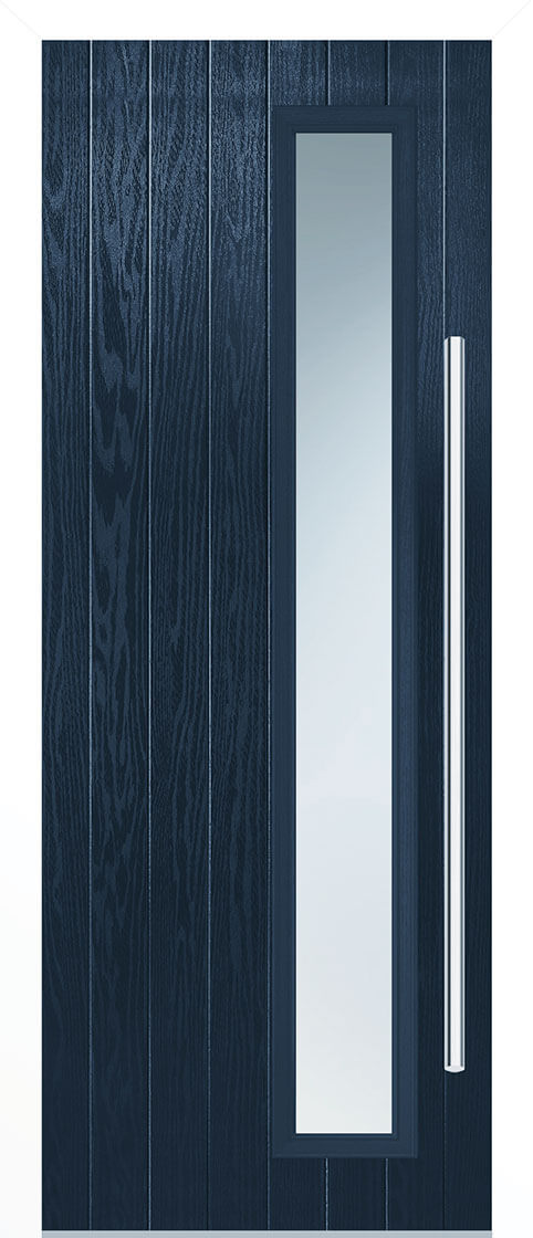 Shardlow Blue Composite Doorset With White Frame