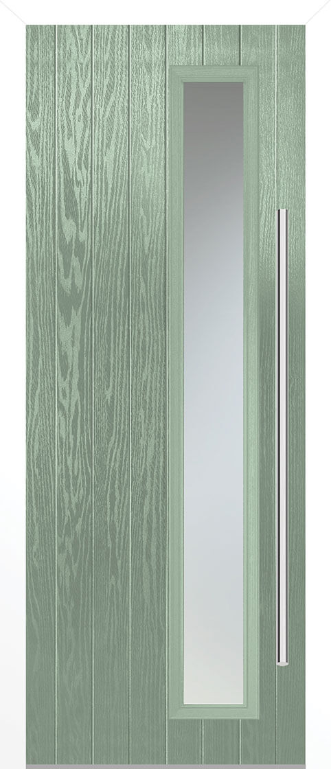 Shardlow Chartwell Green Composite Doorset With White Frame
