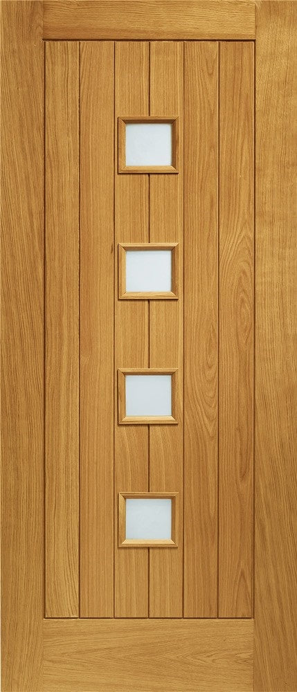 Siena External Oak with Obscure Glass Double Glazed
