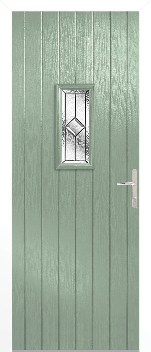Speedwell Chartwell Green Composite Doorset With White Frame