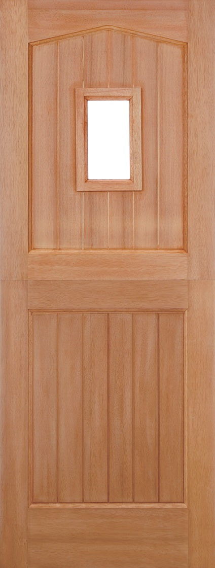 Derby Hardwood exterior door, MT Leaded Double Glazed