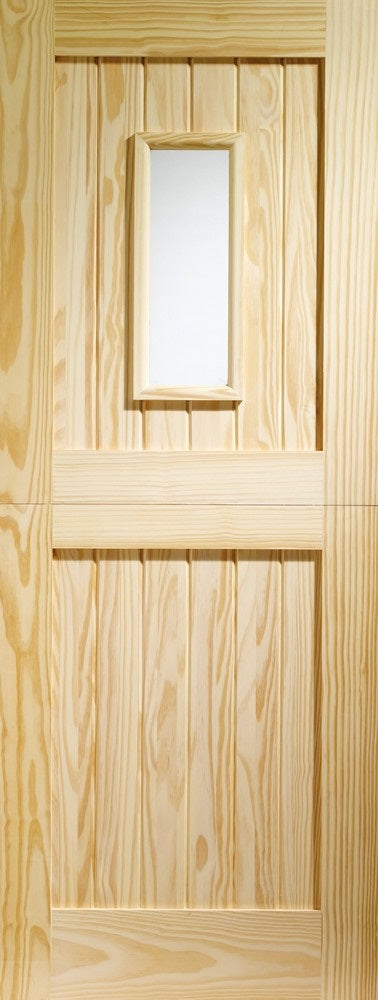 Stable Pine External Door, 1 light clear glass.