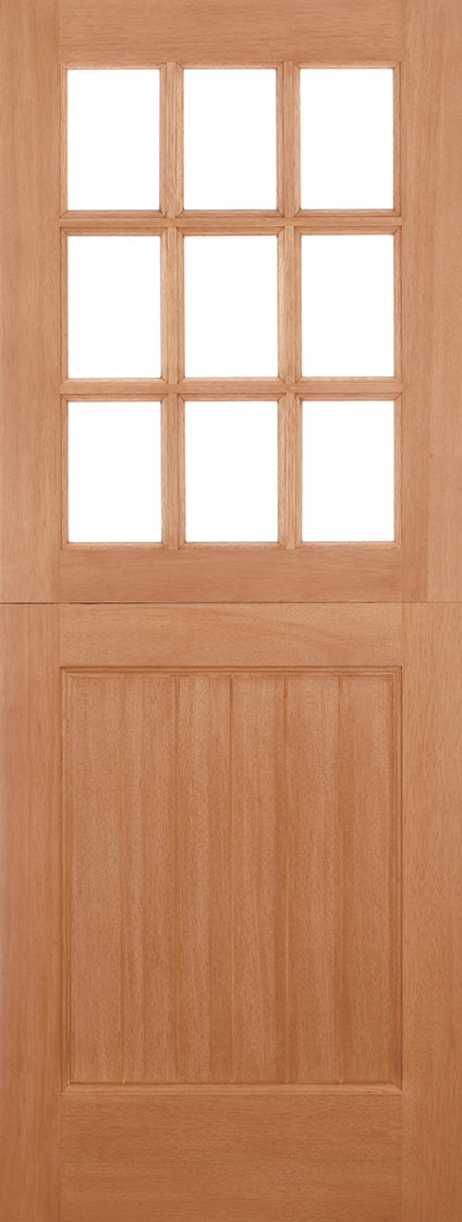Stable 9 light M & T door, straight top unglazed.