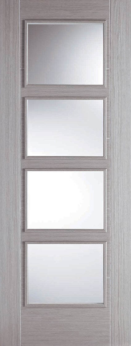 Vacouver  Light grey glazed fire door