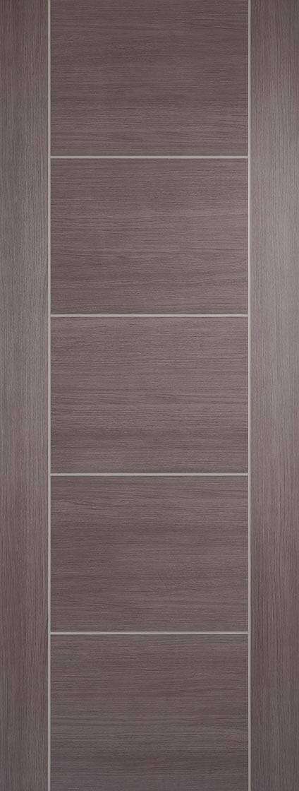 Vancouver medium grey laminate fire door