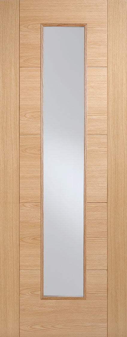 Vancouver oak, one light glazed fire door.