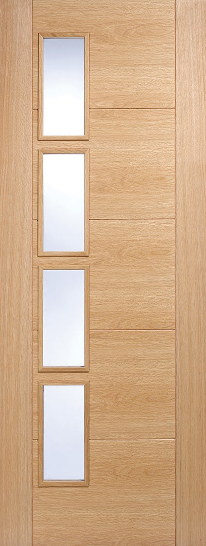 Vancouver glazed oak fire door.