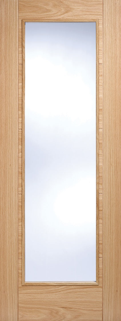 Vancouver Pattern 10 Oak Prefinished Clear Glass