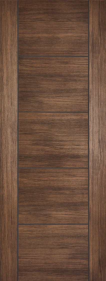 Vancouver walnut laminate fire door.