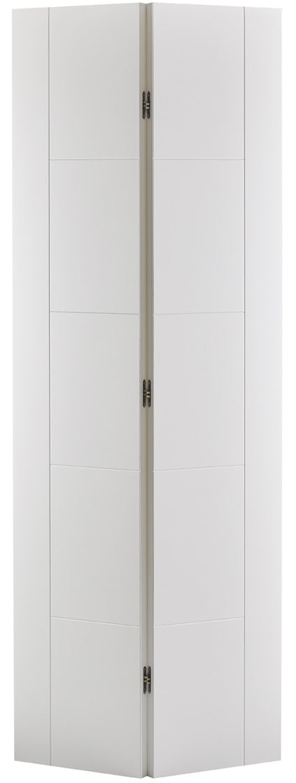 Vancouver white primed bifold door,