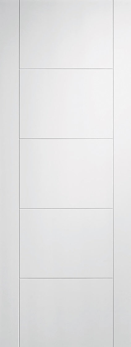Palermo White Primed Fire Door With Clear Glass