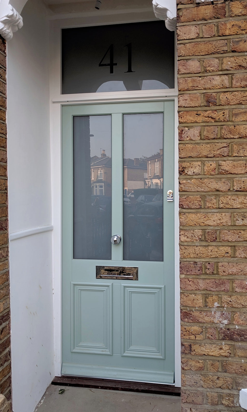 Bespoke Victorian external glazed timber door and fanlight