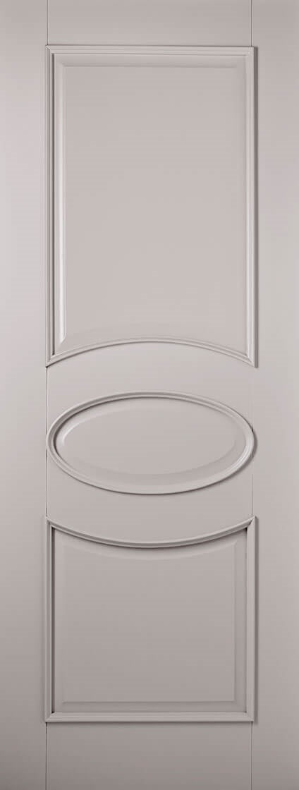 Verona primed light grey internal door.