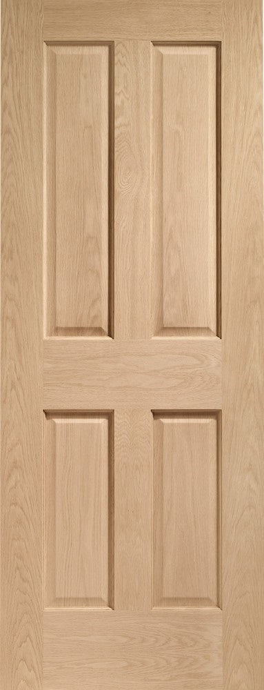 Victorian 4 Panel With Raised Mouldings Oak Fire Door