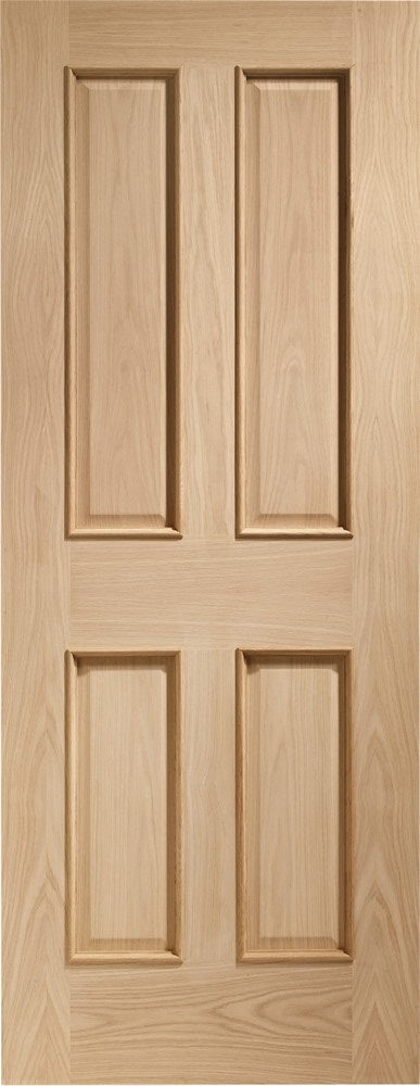 Victorian 4 panel fire door with raised mouldings.