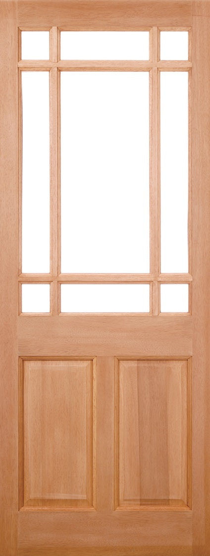 2XG External Hardwood Door Clear Glass Double Glazed MT