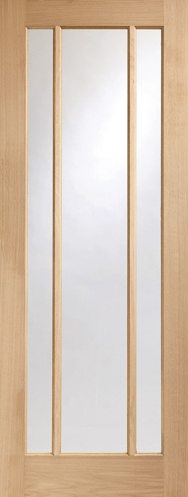 Lincoln Oak W6 Room Divider Unfinished Clear Glass