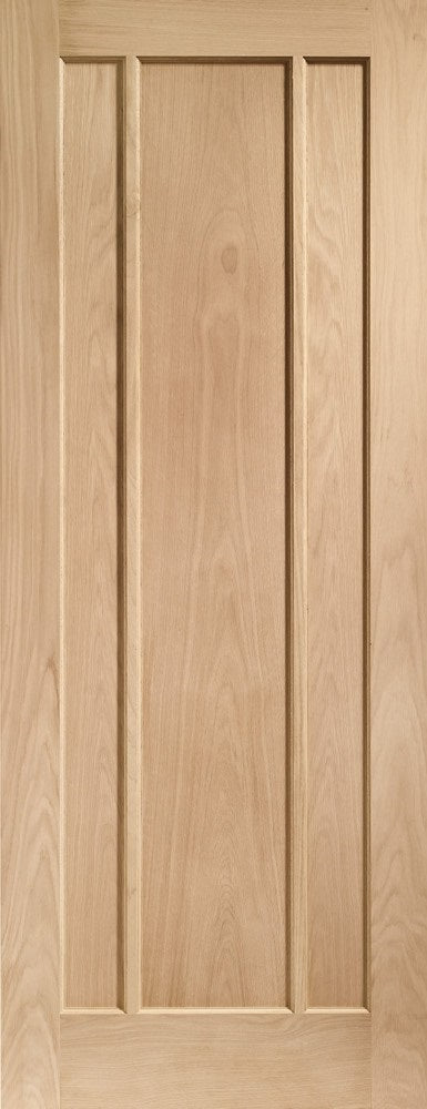 Worcester 3 panel oak fire door.