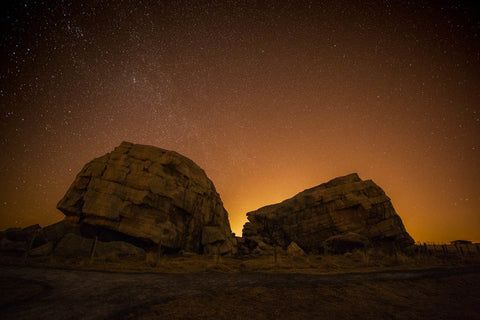 Effects of light pollution while shooting at night