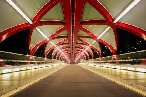 Calgary Peace Bridge Leading Lines