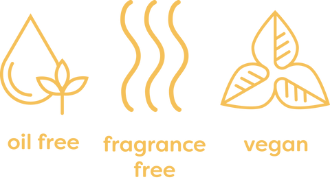 Oil Free, Fragrance Free, and Vegan