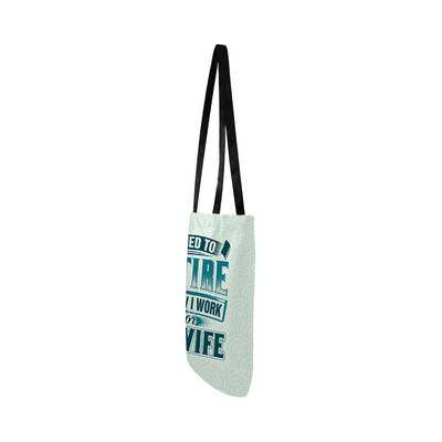Now I Work For My Wife Lightweight Shopping Tote Bag