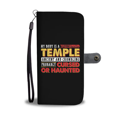 My Body Is A Temple Wallet Case