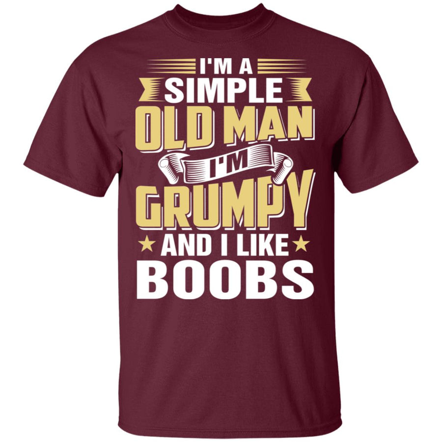 Simple Old Man Grumpy And Boobs T-shirt