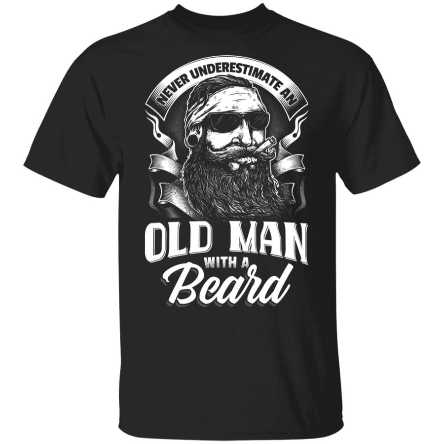 Never Underestimate An Old Man With A Beard T-shirt