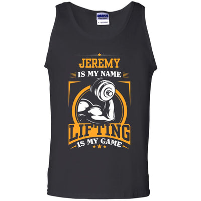 Personalized - Lifting Is My Game Tank Top