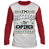 Retired Not Expired Colorblock Ugly Sweatshirt