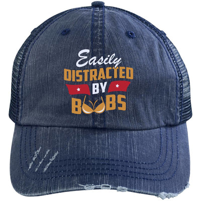 Easily Distracted By Boobs Trucker Cap