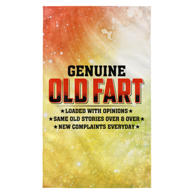 Genuine Old Fart Wall Flag