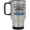 Retirement Plan. I Plan On Fishing Silver Stainless Travel Mug