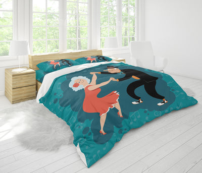 Old Couple Bedding Set Dance - FREE SHIPPING