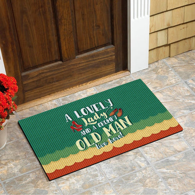 Lovely Lady & Grumpy Old Man Doormat